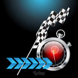 Creative Racing Background with Stopwatch