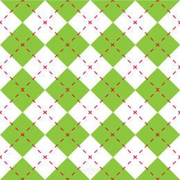 Green Diamond Check Seamless Pattern