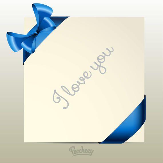 Tarjeta de felicitación con cintas etiquetadas