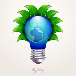 Eco Concept Idea Bulb