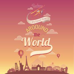 Viaja por todo el mundo Retro Poster