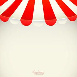 Red White Stripy Awning Background