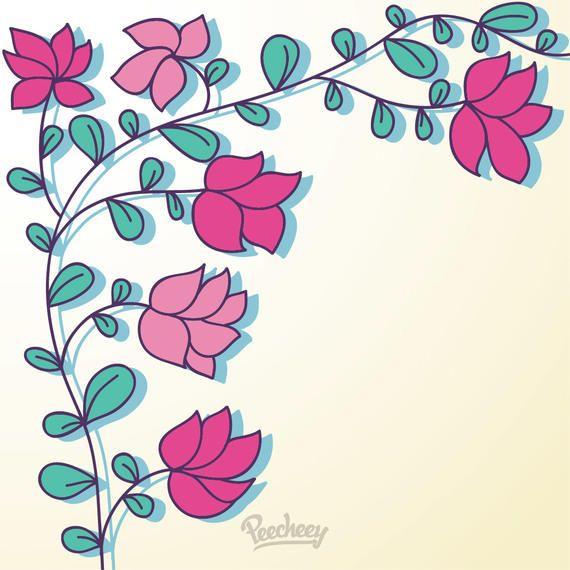 Rama verde con flores rojas mínimas