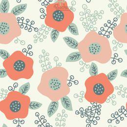 Fondo inconsútil floral abstracto divertido