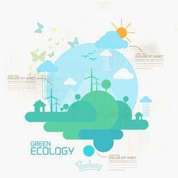 Conceito de eco grungy infográfico