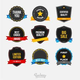 Creative Sales Badge Set Ribbons