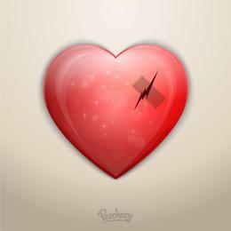 Fita de arranhão de amor de coração partido