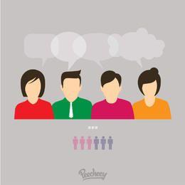 Conversación Concepto Negocios Gente Personajes