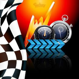 Creative Racing Themed Background