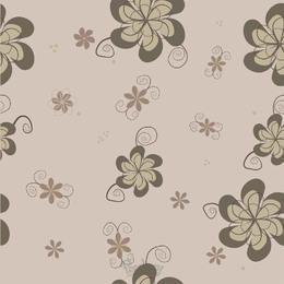 Patrón sin costuras de la flor funky vintage