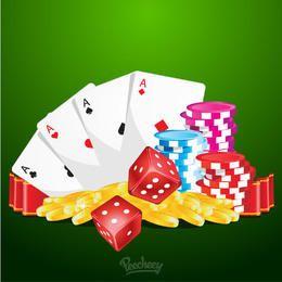 Casino Gambling Colorful Poster