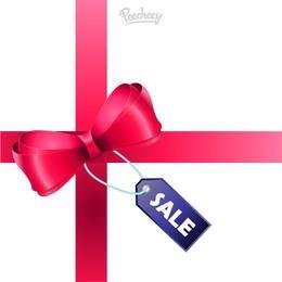 Sale Tag Glossy Ribbon Gift