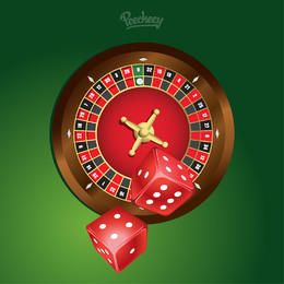 Glossy Casino Roulette with Dices
