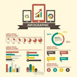 Infografía tecnológica retro mínima