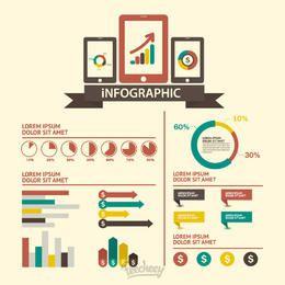 Infográfico tecnológico retrô mínimo