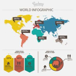 Communication World Map Infographic