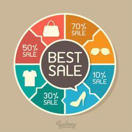 Intrigante em torno do infográfico de gráfico de venda