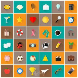 Paquete de iconos de vacaciones y viajes