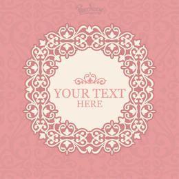Invitación floral rosada del marco del vintage