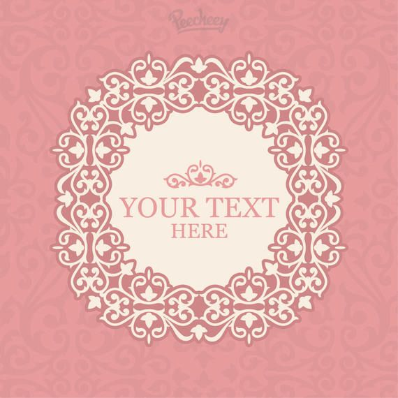 Vintage Pink Floral Frame Invitation