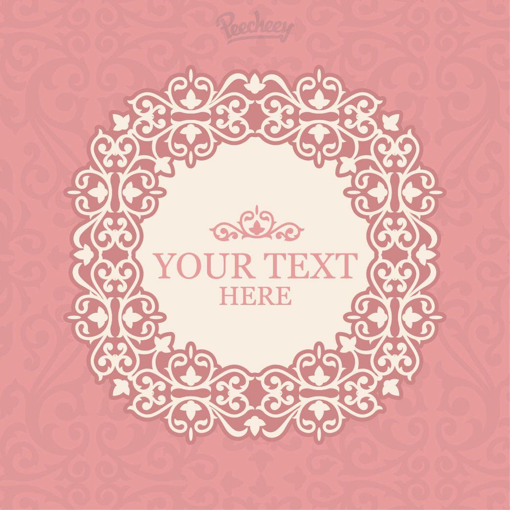 Invitaci n marco rosado floral del vintage descargar vector - Marcos vintage para fotos ...