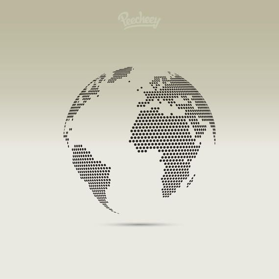3d pixel dotted map globe vector download 3d pixel dotted map globe gumiabroncs Image collections