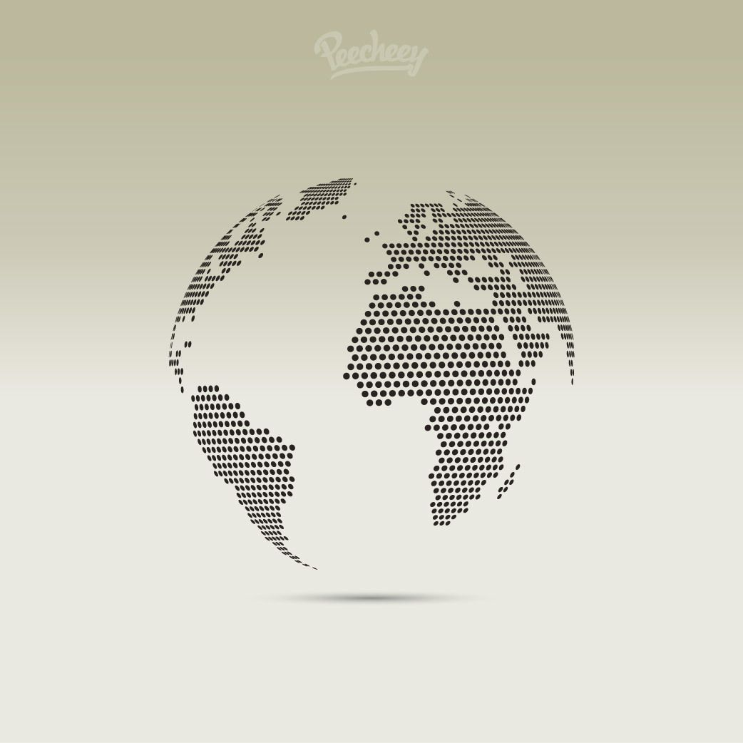 3d pixel dotted map globe vector download image user gumiabroncs