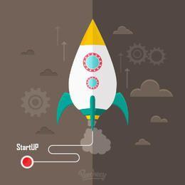 Funky Style Startup Industrieller Hintergrund