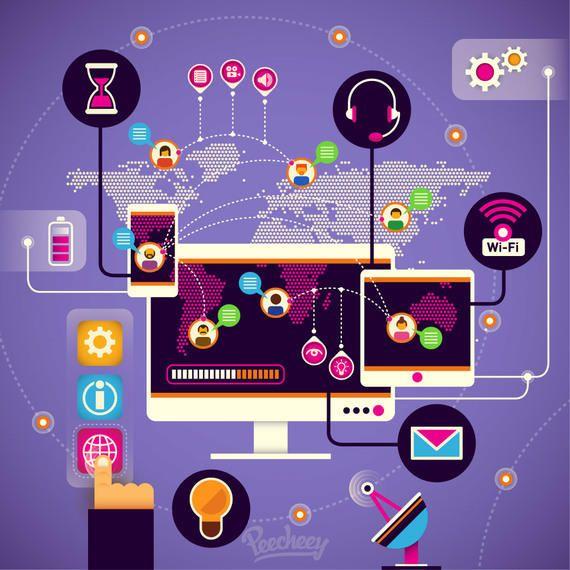 High Tech Modern Communication Infographic