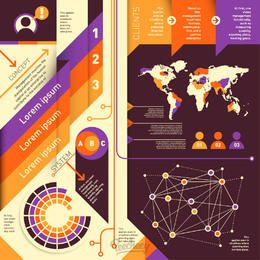 Abstract Colorful Modern Infographic Set