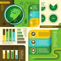 Ecología Verde Ambiental Infogaphic