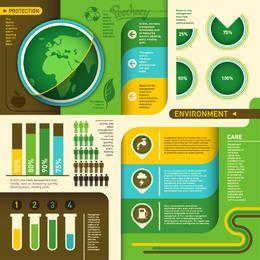 Ökologie Grün Umweltinfogaphic