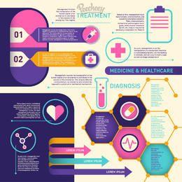 Infográfico colorido de saúde & médico