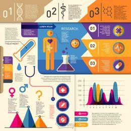 Saúde e Medicina Retro Infográfico