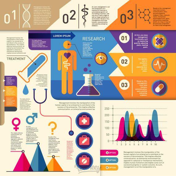 Salud y Medicina Retro Infografía
