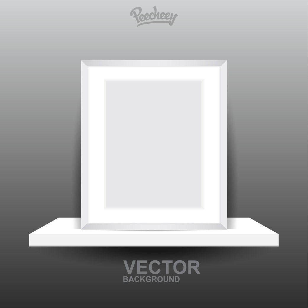 Blank Frame on 3D Shelf - Vector download