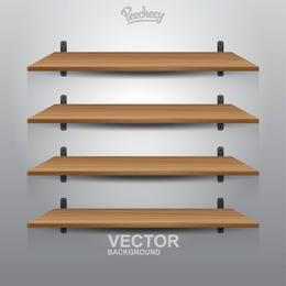 4 Interior Wooden Shelves