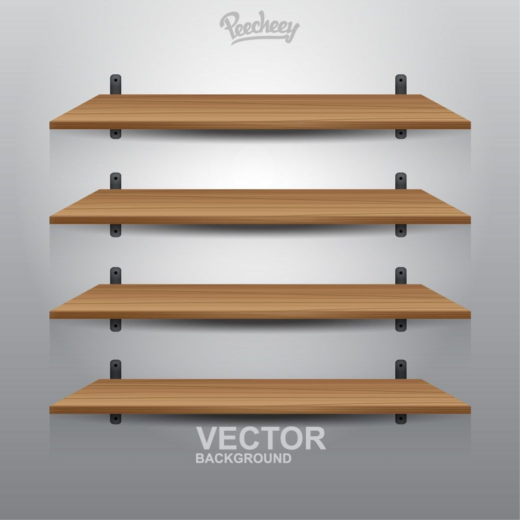 Interior wooden shelves free vector - 4 Interior Wooden Shelves Download Large Image 1042x1042px