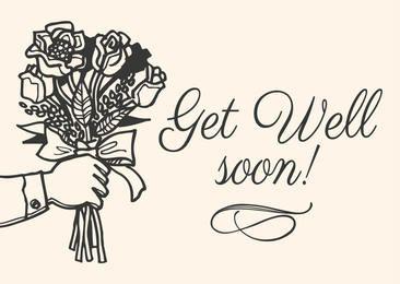 Get Well Soon Hand Drawn Card