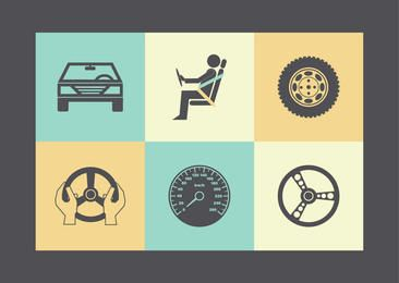 Flat Car & Parts Icon Pack
