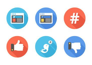 Simple Facebook & Twitter Signs