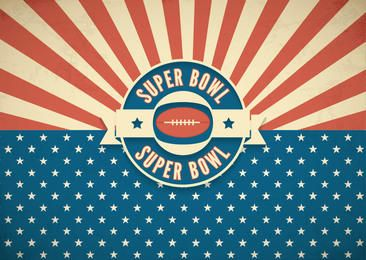 Super Bowl Retro American Background