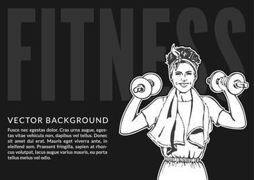Women?s Fitness Sketchy Banner