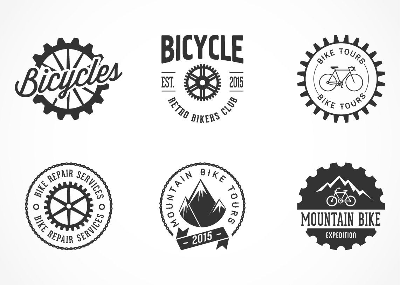 creative bicycle label logo set vector download