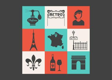 Conceptual Vintage Paris Icon Pack