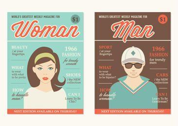 Capas de revista temáticas retros