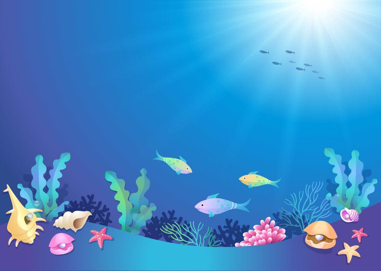 Beautiful Underwater World Cartoon Vector Download