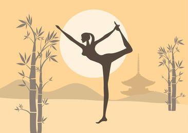 Mujer practica yoga Zen Garden