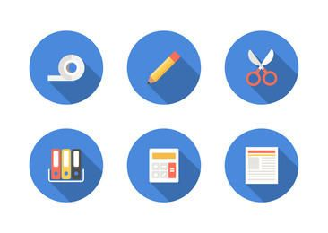 Minimal Office & Stationary Icon Set