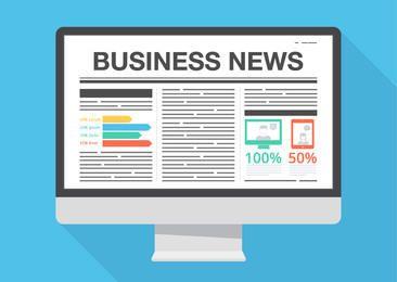 Business News Layout Monitor